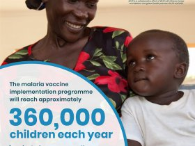 The Malaria Vaccine Implementation Programme will reach 360,000 African children per year.